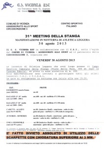 Meeting Stanga 2013 programma